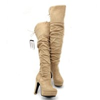 ENMAYER Fashion Over- the- Knee for Women Flock Tassel ladies ...