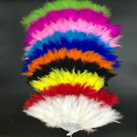 Beautiful feather fan for dance props Wedding Hand Fancy Dress Costume Festival Carnival Accessories Stage Costume Prop Supplies