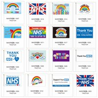 Sen NHS El Bayrağı 14 * 21cm Gökkuşağı Bayrağı UK Banner ederiz İngiltere İskoçya Galler LJJA4063 için Anahtarın İşçi Bayraklar Banner ederiz