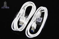 100 unids / lote 1 m Micro B USB 3.0 Cable de carga de sincronización de datos para Samsung Galaxy Note 3 S5 i9600 N9000 N9006 N9002 N9008 Blanco