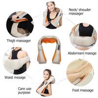 새로운 다기능 적외선 휴대용 몸 전기 어깨 목 마사지 홈 침술 반죽 목 어깨 지압 마사지
