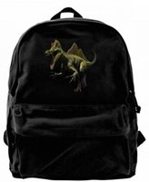Funny dinosaur Canvas Shoulder Backpack Cute Backpack For Me...