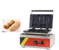 Uso comercial antiadherente 4pcs chino Gallo Pasteles pene eléctrico forma D-Tortas Wafflera Mchine panadero Hierro parrilla de la cocina del molde