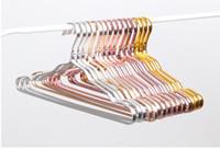 الجملة الفضاء الألومنيوم شماعات الملابس للماء واقية من الصدأ الرف لا تتبع الملابس الملابس دعم المنزلية المضادة للانزلاق شنقا SN352
