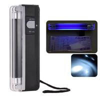 2-en-1 Mini Portable Mini Fonds de banque de billets de banque de billets de billets de billets de billets de billets d'argent avec lampe de poche UV léger pour USD
