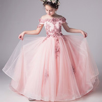New Top Quality Kids Dresses For Girls Wedding Dress Lace Te...