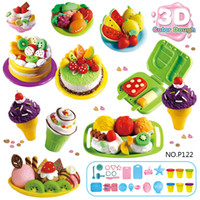 wholesale Dough Mold Set Ice Cream Ice Lolly Cake Soft Clay ...