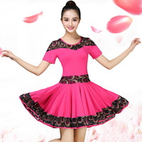 Stage Wear Marca Ladies Square Dance Roupas Terno Vestido Primavera e Verão Adulto Prática Trajes Latin