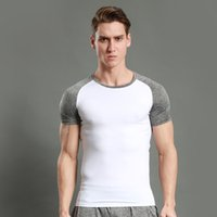 Running T Shirt Hommes Costume De Sport Compression Collants Spandex Sportswear Dry Fit À Manches Courtes Athlétique De Formation Gym