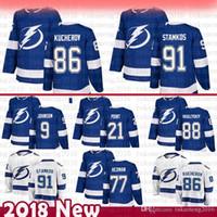 탬파 베이 번개 91 Steven Stamkos Hockey Jerseys Men Nikita Kucherov 77 Victor Hedman 88 Andrei Vasilevskiy 9 Johnson Men Brayden Point
