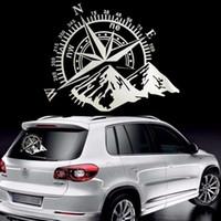 50x60cm fuoristrada Compass Car Sticker Rose Navigate Vinile Decalcomania Auto Camion Auto Laptop Car Door e Hood