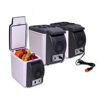 12V 6L Capacità portatile per auto Frigorifero del dispositivo di raffreddamento termoelettrico Warmer Camion Frigo elettrico