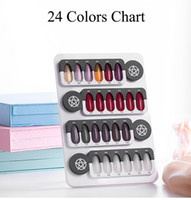 Tamax NA039 24 Tips Detachable Removable Nail Color Display ...