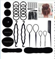 Haar-Brötchen-Hersteller Friseurbedarf Lockenwickler Set Haarpin Kugelkopf Blume Hüllblätter Styling Werkzeuge