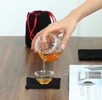 Una olla de dos tazas juego de té del recorrido mini exterior Kung Fu juego de té de calor del hogar tetera de vidrio resistente