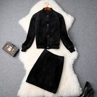Women girls black quilted velvet jacket single breasted + a ...