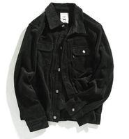 JIN JUE LES Abbigliamento di marca Giacca di velluto a coste per uomo Autunno Inverno Multi-Pocket Tooling Retro Jacket Coat Moda Casual bavero Outwear
