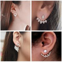 H23 New Imitation Pearl Heart Crystal Flower Leaf Angel Wing...