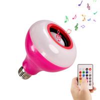 E27 Интеллектуальные Bluetooth Музыка Лампочки Светодиодные Красочные Bluetooth Speaker Лампочка Wireless Audio Шарик + 24 Клавиши дистанционного управления