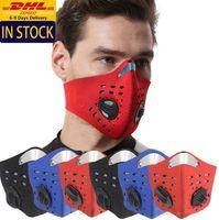 Máscara de DHL nave reutilizable transpirable Equitación Ciclismo cara con válvula de aire libre para adultos del polvo anti PM2,5 filtro protector FY9037 mascherine