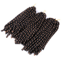 14 pouces Dreadlocks doux Crochet tresses Jumbo Hairstyle 70g / PC Ombre Couleur Synthétique Synthetic Faux Locs Tressant Extensions de cheveux
