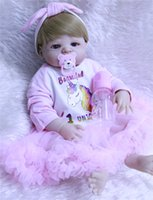 "Full Silicone Reborn babies 22"" 55cm Doll Toys washable..."
