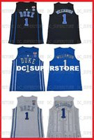 Cheap Zion Williamson #1 DUKE Jersey Basketball NCAA NEW hig...
