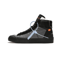 2019 OFF-White x Nike Blazer The Ten New Release Blazer Mid All Hallows Eve Grim Reepers Zapatillas de deporte Pale Vanilla Black-Total Orange Alta calidad Deportes 10X