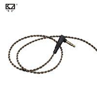 Yeni Orijinal KZ Kablo Yükseltme Gümüş Kaplama OFC Kablo KZ Kulaklıklar için 0.75mm ZST / ZS5 / ZS3 / ED12 / ZS6 / ZS4 / ZSA / ED16 / AS10 / BA10 / ZSR