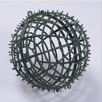 5-30 cm DIY Plastik Yuvarlak Topu Kalp Çiçekler Baz Raf Yapay Çiçek Aksesuarları Düğün Ev Partisi Dekor Için Çerçeve
