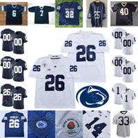 Penn State sur mesure PSU football Jersey NCAA College Sean Clifford Journey Saquon Barkley KJ Hamler Noah Pat Cain Freiermuth Micah Parsons
