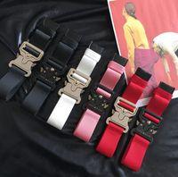 2019 جديد أفضل نسخة ALYX حزام 130 سم Rollercoaster زر معدني قماش الهيب هوب الشارع ارتداء حزام الأمان