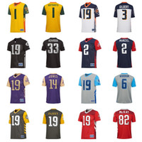 Hombre 2 Johnny Manziel 33 Trent Richardson 14 Malachi Jones 3 Garrett Gilbert 82 Mekale McKay 6 Josh Woodrum American Football Jerseys S-4XL
