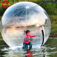 Transporte livre da porta 2 m dia inflável bola de passeio de água para venda, piscina bola inflável zorbing, claro inflável bola de rolamento de água