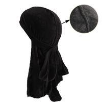 الرجال النساء باندانا المخملية العمامة قبعة حريري دوراج دو دو خرقة أغطية الرأس الحجاب طويل الذيل حك الجمجمة غطاء الرأس الشعر