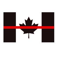 Kanada Red Line Flag 3x5 FT Banner 90x150cm Festival-Party-Geschenk Sports 100D Polyester Printed Heißer Verkauf!