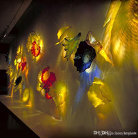 Необычные Рука выдувное стекло стена Планшеты Art Дизайн муранского стекла Настенные светильники отеля Wall Decor Glass Art Plate