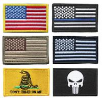 Patch bandiera USA Bundle 100 pezzi Bandiera americana sottile linea blu Bandiera della polizia Non calpestare Patch ricamata con stemma morale