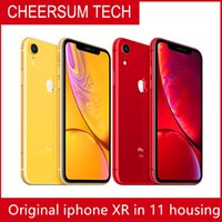 Orijinal Kilitli 6.1 inç iPhone XR iPhone 11 stil Apple iPhone XR RAM 3 GB ROM 64GB / 128GB / 256GB Orijinal Mobil Telefon Unlocked