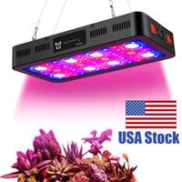 2400W Timer Control LED växer lampor med veg och blommbrytare, fullt spektrum med termometer fuktighetskärm och daisy kedja