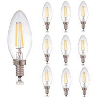 Старинные Retore Dimmable B22 E14 E12 C35 2W 4W светодиодные люстры свеча света лампочки накаливание 110 В прозрачный стеклянный фонарь для церковного домашнего декора