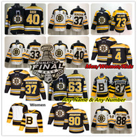 Boston Bruins 2019 Stanley Cup Final Jersey Hockey Patrice Bergeron Brad Marchand David Pastrnak Zdeno Chara McAvoy Rask DeBrusk Bobby Orr