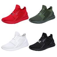Lotezly Breathable Shoes For Man Black White Red Shoes Men S...