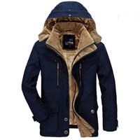 남자 다운 파카 도관 패션 고품질 양털 두꺼운 캐주얼 겨울 재킷 남성 따뜻한 오버 코트 플러스 사이즈 6XL outwear CF029