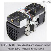 TC-100 AC110V / 220V Oilless Membran-Vakuumpumpe 100W Medical Mute Pumpe mit 24L / min Vakuumfluss