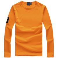 camisa de mangas compridas de alta qualidade shirt dos homens de golfe de moda dos homens masculinos clássicos Desportivo Casual camisas marca camisa bordada grande cavalo