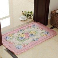 Romantische Blumen-Drucken-Teppichboden Bad Teppich Matten, PVC Anti-Rutsch-Boden Badematte Teppich, Mats Teppich in der Toilette