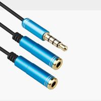3,5 мм AUX кабель сплава с микрофоном Audio Y Splitter адаптер 3,5 мм самкой до 2 порта мужчина Aux кабель-удлинитель для планшетных ПК Laptop Smartphone