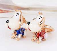 2019 Metal Dog Keychains Key Rings Fashion Animal Key Chains...