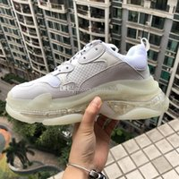 2019 Paris Clear White Triple-S Sneaker Lime Green Triple S Casual Dad Shoes para Mujer Hombre Fluorescente Verde Ceahp Sports Designer Shoes